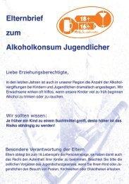 Elternbrief zum Alkoholkonsum Jugendlicher (pdf)