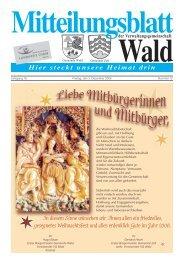 Dezember 2005 - Gemeinde WALD