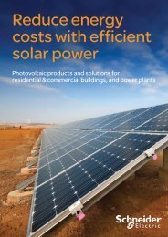 Reduce energy costs with efficient solar power - Schneider Electric