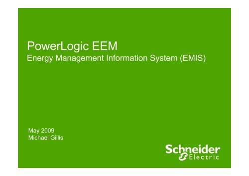 Energy efficiency Schneider Electric the global