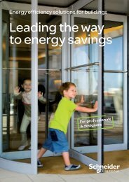 Leading the way to energy savings - Schneider Electric