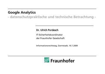 Google Analytics - Instituts für Informationsrecht (i2r)