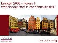 erwicon 2008: Wertmanagement in der Kontraktlogistik - Erfurt