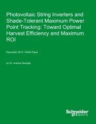 Photovoltaic String Inverters and Shade ... - Schneider Electric