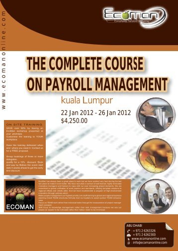 the complete course on payroll management - ECOMAN ...