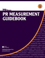 PR MeasuReMent Guidebook - PR News