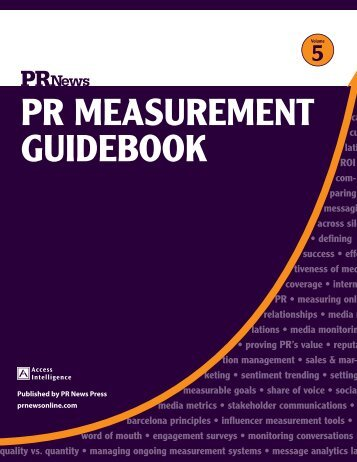 PR MeasuReMent Guidebook - PR News