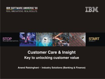 Customer Care & Insight - IBM