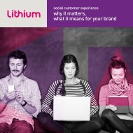 Social customer experience, why it matters - Lithium