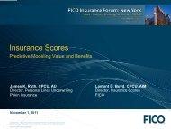 New York Insurance Forum 2011 - Fico