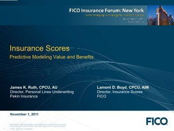 New York Insurance Forum 2011 - Fico
