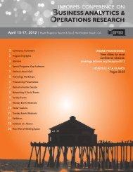 April 15-17, 2012 - Informs