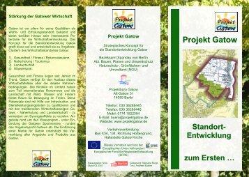 Flyer: Standortentwicklung (PDF, 652 KB) - Projekt Gatow