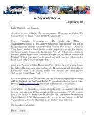 Newsletter -- September '08 - Network Turkey