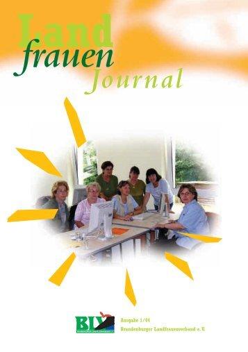 Ausgabe 1/2004 (PDF Datei) - Brandenburger Landfrauenverband eV