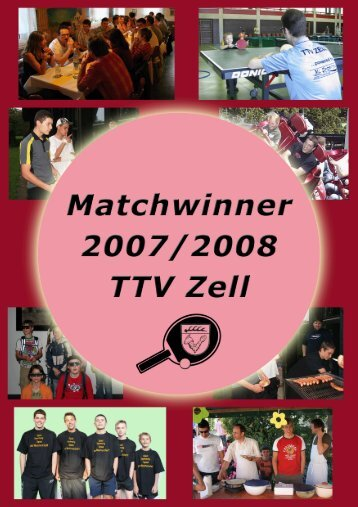 Matchwinner 2007/2008 zum Download - TTV Zell u.A.