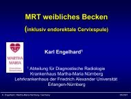MRT weibliches Becken (inkl. endorektale Cervixspule)