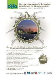 Vet-Congress 10. - 13. Nov. 2011 Estrel Convention Center, Berlin ...