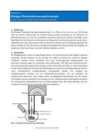 Röntgen-Photoelektronenspektroskopie - Pharmazie-Lehrbuch
