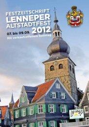Festzeitschrift Lenneper Altstadtfest 2012 - Lennep Offensiv eV