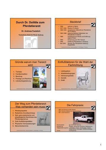 Durch Dr. Dolittle zum Pferdetierarzt - Vetion.de