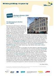 Roentgen-Schule 08K09 - Ganztägig Lernen - Berlin