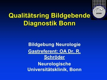 Bildgebung Neurologie