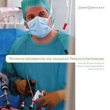 Patienten-Information zur radikalen Prostata-Entfernung