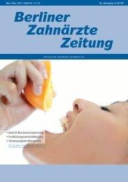 BZZ_2011_11_12 - Verband der Zahnärzte von Berlin
