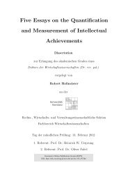 Five Essays on the Quantification and Measurement of ... - KOPS