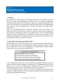 Röntgendiffraktometrie - Pharmazie-Lehrbuch