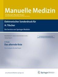 Elektronischer Sonderdruck für Das alternde Knie ... - Prof. Dr. Tilscher
