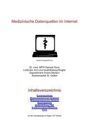 Medizinische Datenquellen im Internet - congress-info.ch | Home