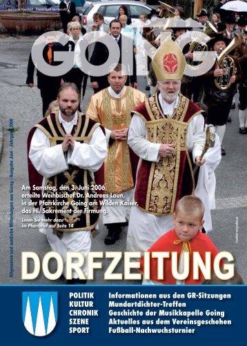 Dorfzeitung Juni 2006 - Going am wilden Kaiser