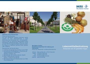 Lebensmittelbestrahlung - Max Rubner-Institut - Bund.de