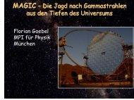 MAGIC - Die Jagd nach Gammastrahlen aus den Tiefen des ...