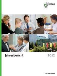 Jahresbericht der Ärztekammer Nordrhein 2012