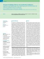 Therapie der Multiplen Sklerose mit monoklonalen ... - Goneo