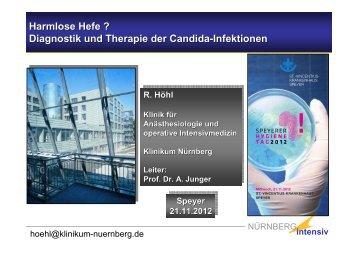 Harmlose Hefe ? Diagnostik und Therapie der Candida-Infektionen