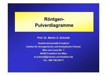 Röntgen- Pulverdiagramme - Institut für Anorganische und ...