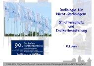 Radiologie für Nicht-Radiologen: Strahlenschutz und ...