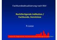 Rechtfertigende Indikation / Fachkunde, Kenntnisse ... - DRG