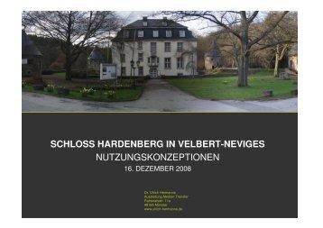 SCHLOSS HARDENBERG IN VELBERT-NEVIGES ... - Stadt Velbert