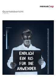 Quartalsbericht - Nexus AG