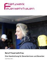 Broschüre - Beruf Feuerwehrfrau - Netzwerk Feuerwehrfrauen eV
