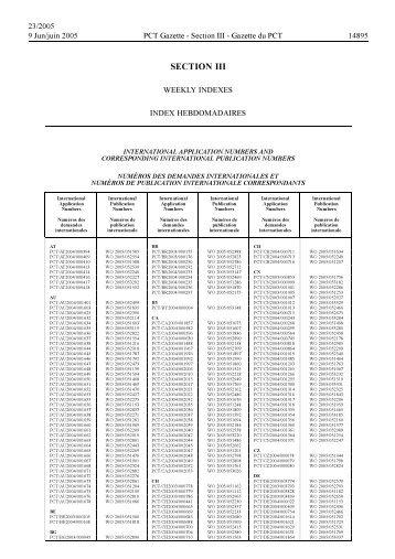 PCT/2005/23 - World Intellectual Property Organization