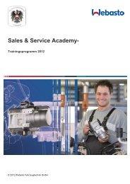 Unser Trainingsprogramm 2012 - Webasto