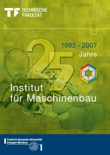 Institut für Maschinenbau - Maschinenbau - Friedrich-Alexander ...