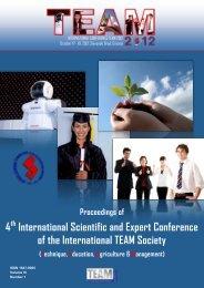 TEAM 2012, Proceedings of the 4 - TEAM 2012 header