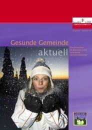 Ausgabe 4 - Dezember 2008 - Netzwerk Gesunde Gemeinde - Land ...